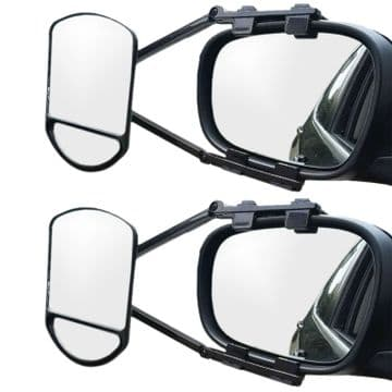 2 x CARAVAN / CAR DUAL LENS SWIVEL ROTATING TOWING MIRRORS wing van 4x4 trailer